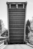 Drawbridge, Tsvetochnoye lock on Saimaa Canal Stock Photos