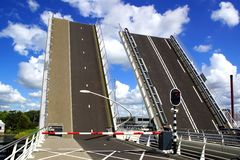 Drawbridge in Zaandijk. Holland Royalty Free Stock Image