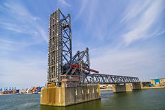Drawbridges in Port of Antwerp Stock Photos