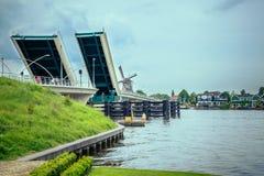 Drawbridges. Two drawbridges across the River in summer stock photography