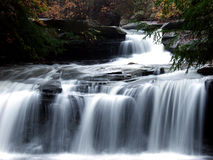 Drawdy Falls. Waterfall at Drawdy, WV.  Slow exposure Stock Photography