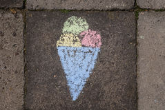 Drawed ice cream Stock Images