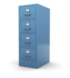 Drawer. 3d illustration of drawer cabinet over white background Royalty Free Stock Image