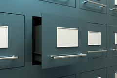 Drawer cabinet. A drawer cabinets as a background Royalty Free Stock Photography