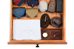 Drawer With Clothes and Accessories Stock Photo