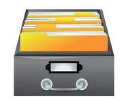 Drawer with folders for files Royalty Free Stock Photos