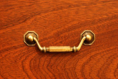Drawer front with antique drawer handle Royalty Free Stock Photos