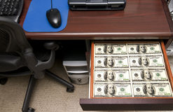 Drawer Full of Money Stock Image