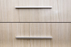 Drawer furniture levers close-up Stock Photos