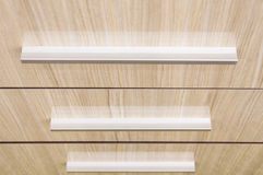 Drawer furniture levers oak wood Stock Image