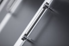 Drawer and handle close-up. Close-up photograph of drawer and handle Stock Photos
