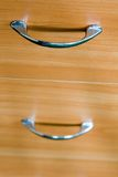 Drawer handles. Office environment, file cabinets Royalty Free Stock Photography