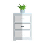 Drawer icon image. Drawer icon over white background. colorful desing.  illustration Stock Photos