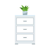 Drawer icon image. Drawer icon over white background. colorful desing.  illustration Royalty Free Stock Images