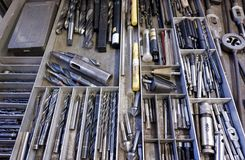 Drawer and lots of tools Royalty Free Stock Images