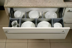 Drawer in a modern kitchen Stock Photos
