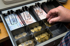 Drawer with money Stock Images
