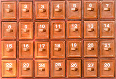 Drawer with number Royalty Free Stock Photography