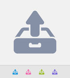 Drawer Outbox - Granite Icons Royalty Free Stock Images