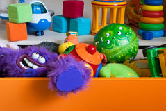 Drawer with toys Stock Photo