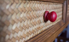 Drawer. Wicker Drawer and old-style royalty free stock photography