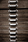 Drawer. In wood brown and metal Stock Photography