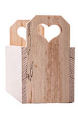 Drawer wooden heart Stock Photos