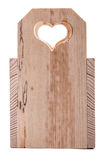 Drawer wooden heart Stock Images