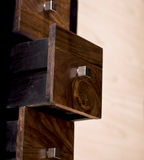 Drawers. Wooden chest of drawers, with drawers open Stock Images