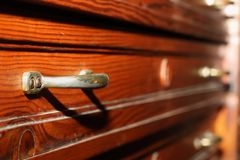 Drawers on antique furniture Stock Photography