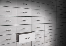 Drawers in cabinet Royalty Free Stock Image