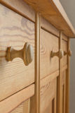 Drawers cabinet wood pigeon holes Royalty Free Stock Photos