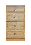 Drawers. Contemporary wooden cabinet with drawers Royalty Free Stock Images