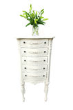 Drawers and flowers Royalty Free Stock Photos