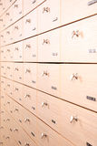 Drawers inside pharmacy store Royalty Free Stock Photos