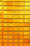 Drawers in library Royalty Free Stock Images