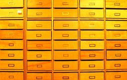 Drawers in library Stock Photo