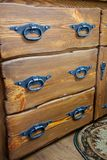 Drawers with metal handles Royalty Free Stock Image