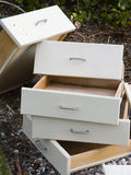 Drawers Stacked. A stack of cabinet drawers Stock Photography