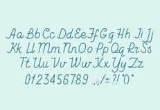 Алфавит drawin руки handwritting шрифт вектора abc Стоковые Изображения RF