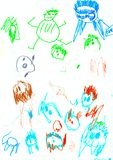 Drawing. These children's scrawl. Made by child royalty free stock image