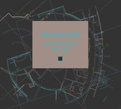Drawing of abstract architectural detail on flat surface. Image of colorful blueprint for use as background for web and print. Template for cover or banner Stock Photos
