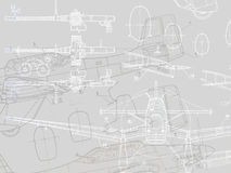 Drawing of aeroplane Stock Photo