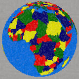 Drawing of Africa on Earth Royalty Free Stock Photos