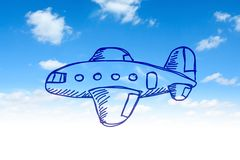 Drawing of aircraft Royalty Free Stock Photos