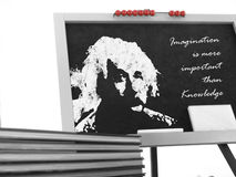 Drawing of Albert Einstein Royalty Free Stock Image