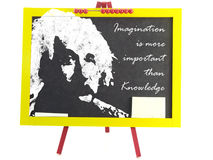Drawing of Albert Einstein Stock Images