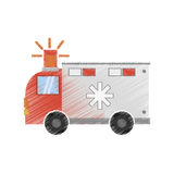 Drawing ambulance transport emergency Royalty Free Stock Photography