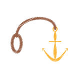drawing anchor rope marine nautical Stock Images