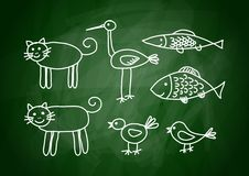 Drawing of animals Royalty Free Stock Images